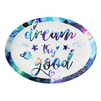 Dream. Try. Do Good. Porcelain Serving Platter