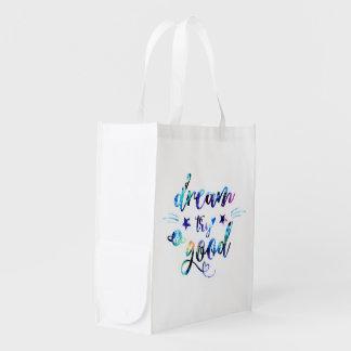 Dream. Try. Do Good. Reusable Grocery Bag