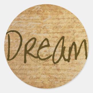 Dream Vintage Round Sticker