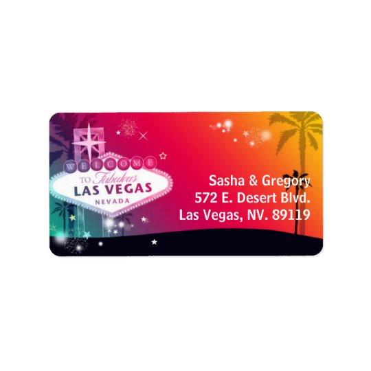 Dream Wedding in Viva Las Vegas Address Label