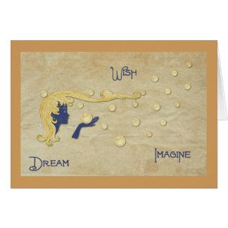 Dream Wish Imagine Card