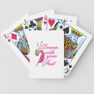 Dream With Feet Bicycle Playing Cards