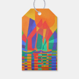 Dreamboat - Cubist Junk In Primary Colors Gift Tags