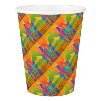 Dreamboat - Cubist Junk In Primary Colors Paper Cup