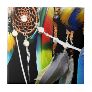 Dreamcatcher and Feathers Ceramic Tiles