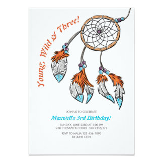 Dreamcatcher Birthday Invitation