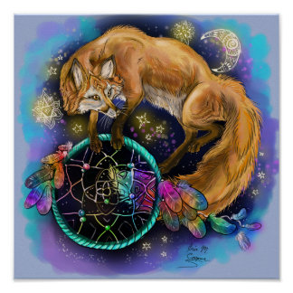 DreamCatcher Fox Poster