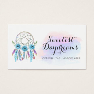 Dreamcatcher Native American Feathers Watercolor Business Card
