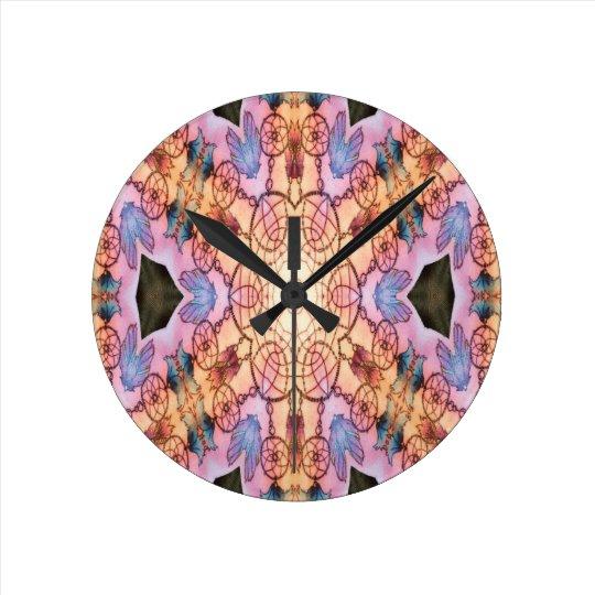 Dreamcatcher_purple Round Clock