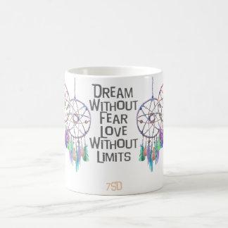 Dreamcatcher Watercolor Quote Coffee Mug