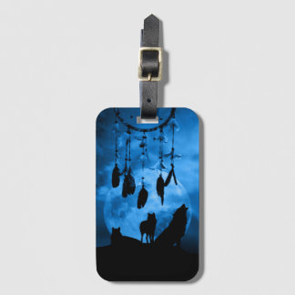 Dreamcatcher Wolves Luggage Tag