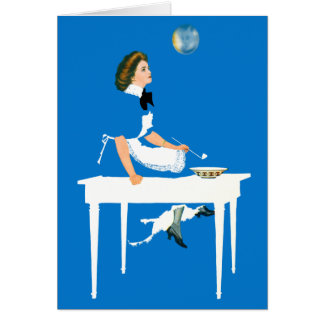 Dreamer Blowing Bubbles Card