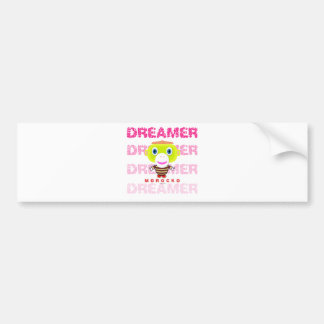Dreamer-Cute Monkey-Morocko Bumper Sticker