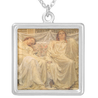 Dreamers by Albert Joseph Moore, Victorian Art Necklace