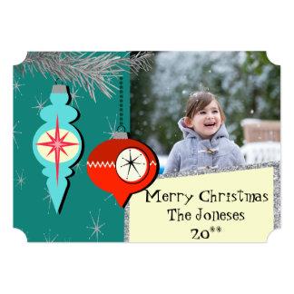 Dreaming a of Retro Christmas Photo Card 13 Cm X 18 Cm Invitation Card