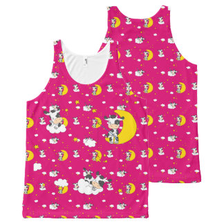 Dreaming Cow All-Over Print Tank Top