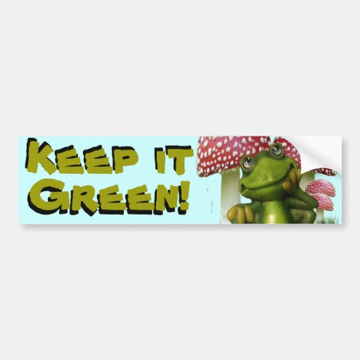 Dreaming Frog Bumper Stickers