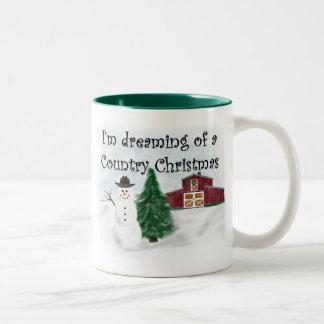 Dreaming of a Country Christmas 11 oz Two-Tone Mug