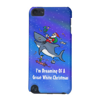 Dreaming Of A Great White Shark Christmas iPod Touch (5th Generation) Covers