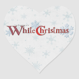 Dreaming of a White Christmas Heart Sticker