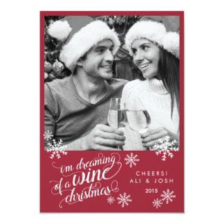 Dreaming of a Wine Christmas | Photo Card 13 Cm X 18 Cm Invitation Card