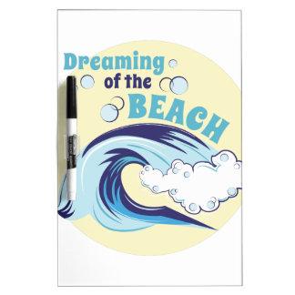 Dreaming Of Beach Dry Erase Board