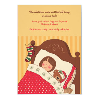 Dreaming of Christmas Holiday Card 13 Cm X 18 Cm Invitation Card