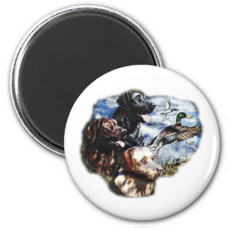 Dreaming of Duck Hunting 6 Cm Round Magnet