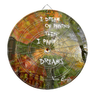 Dreaming of grey and orange roses dartboard