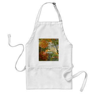 Dreaming of grey and orange roses standard apron