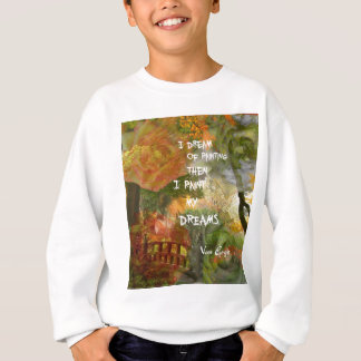 Dreaming of grey and orange roses sweatshirt