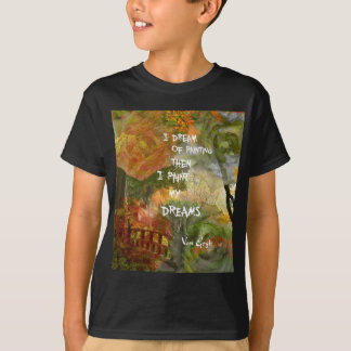 Dreaming of grey and orange roses T-Shirt