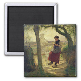 Dreaming of her Love, 1901 Square Magnet