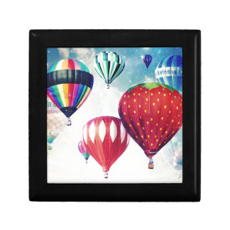 Dreaming of Hot Air Balloons Small Square Gift Box