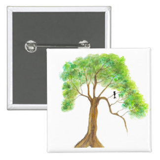 Dreaming Of Spring From Original Artwork 15 Cm Square Badge