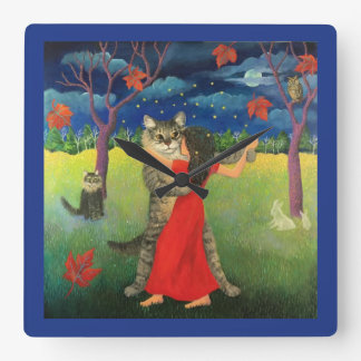 Dreaming of Sweetums Square Wall Clock