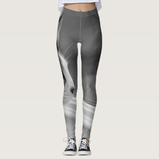 Dreaming Of Warmer Weather Grayscale Leggings