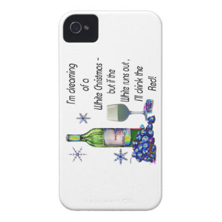 Dreaming of White Christmas, Funny Wine Art Gifts iPhone 4 Case-Mate Case