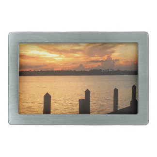 Dreaming on the dock of the bay rectangular belt buckle