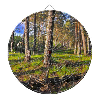 Dreaming Pine Trees into the Evening Light Dartboard