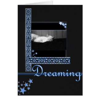 Dreaming (starry night) greeting card