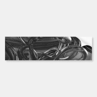 DREAMLAND STEEL BLACK GRAYS ABSTRACT WALLPAPER BAC BUMPER STICKERS