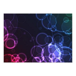 DREAMLIKE BOHEK BUBBLES CIRCLES BLACK BACKGROUND D 13 CM X 18 CM INVITATION CARD