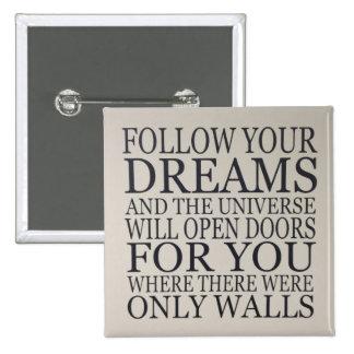 dreams 15 cm square badge