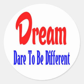 Dreams, Attitude. Success Goals Motivational Quote Classic Round Sticker