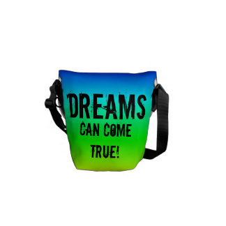 Dreams can come true! multi-colored bag courier bags