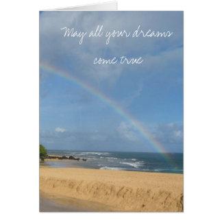 Dreams come true greeting card