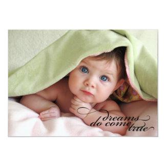 Dreams Do Come True {Birth Announcement} 13 Cm X 18 Cm Invitation Card