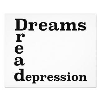 Dreams Dread Depression 11.5 Cm X 14 Cm Flyer