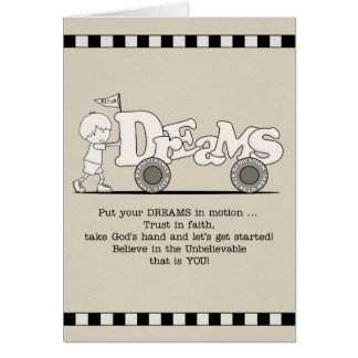 Dreams in Motion Greeting Card